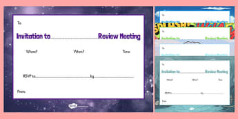KS2 Person Centred Review Invitation - person, centred, review, invitations, ks2