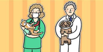 Vet Stick Puppets - vets, animals, stick puppet, puppet, roleplay