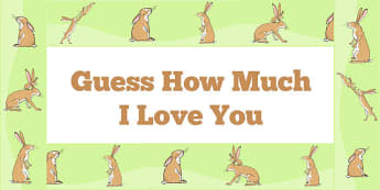 Guess How Much I Love You Display Borders - display board, story