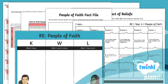 People of Faith Unit Assessment Pack - faith, religion, assessment, AFL, formative, summative, RE, religious education, assessment for lear