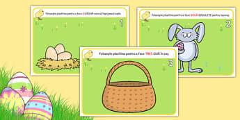 Sărbătoarea de Paște, numărăm până la 5 - Planșete pentru modelajul cu plastilină