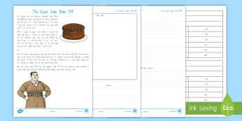 The Great Bake Off Chocolate Cake Activity to Support Teaching on Matilda - New Zealand Chapter Chat, Chapter Chat NZ, Chapter Chat, Miss Trunchbull, Chocolate Cake, Cooking, N