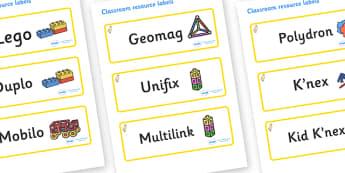Duckling Themed Editable Construction Area Resource Labels - Themed Construction resource labels, Label template, Resource Label, Name Labels, Editable Labels, Drawer Labels, KS1 Labels, Foundation Labels, Foundation Stage Labels