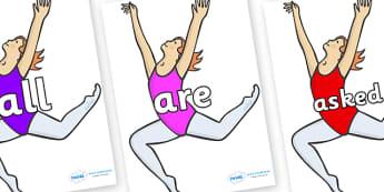 Tricky Words on Ballet Dancers - Tricky words, DfES Letters and Sounds, Letters and sounds, display, words