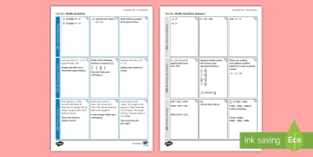 Foundation: Number (Non-Calculator) Revision Activity Mat - Secondary - Maths - Exams MatsRevision, Foundation, KS4, Number, Non-Calculator, Using and Applying,
