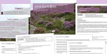Jane Eyre Quiz Chapters 1-10 - jane eyre, chapters, 1, 10, book, ks3