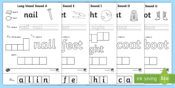 Long Vowel Sound Writing Word Activity Pack -  - CVC Writing Word Activity Sheet Pack - CVC, writing, word, activity, sheet, pack, activity pack, CVC