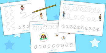 The Emperors New Clothes Pencil Control Sheets - tracing, trace