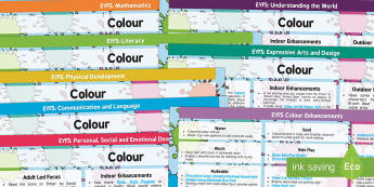 EYFS Colour Lesson Plan and Enhancement Ideas - colour, lesson plan, EYFS, lesson