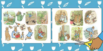The Tale of Peter Rabbit Story Cut Outs - peter rabbit, story