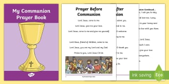 Roman Catholic Communion Prayer Book Print-Out -  prayer book, prayers, Communion, Eucharist, print out, Roman Catholic, prayer book, Irish