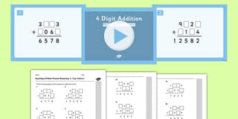 KS2 Reasoning Test Practice Missing Number Calculations 4-Digit Addition Resource Pack - Key Stage 2, KS2, Reasoning, Test, Practise, Missing Number, Addition