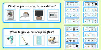 What? Question: Household Objects - Multiple Choice - what, question, household