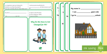Why Do We Have to Get Changed for PE? Social Situation - social story, getting changed, PE kit, autism, ASD