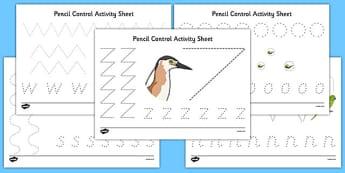 New Zealand Animals Pencil Control Worksheets