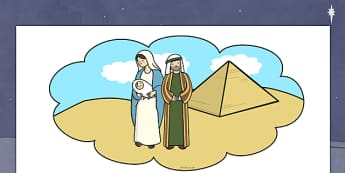 Egypt Dream Thought Bubble - egypt, dream, thought, nativity