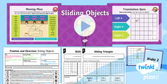 PlanIt Y4 Position and Direction Lesson Pack Translations (1) - Y4 Position and Direction, coordinates, translations, Describe movements between positions as transl