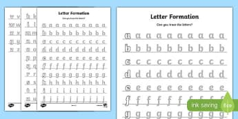 Letter Formation Worksheet A-Z - letter formation, worksheet, a-z, alphabet, letters