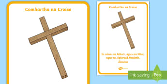 Sign of the cross display poster A4 Display Poster Gaeilge - Confession & First Communion Resources,Irish, sign of the cross, easter, Catholic, Christian, church