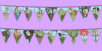 Enchanted Woodland Bunting - enchanted woodland, bunting, display