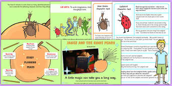 Story Writing PowerPoint Activity Cards Lesson Pack to Support Teaching on James and the Giant Peach
