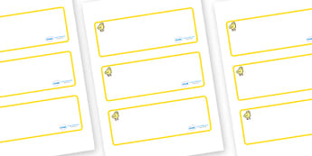 Chicks Themed Editable Drawer-Peg-Name Labels (Blank) - Themed Classroom Label Templates, Resource Labels, Name Labels, Editable Labels, Drawer Labels, Coat Peg Labels, Peg Label, KS1 Labels, Foundation Labels, Foundation Stage Labels, Teaching Label