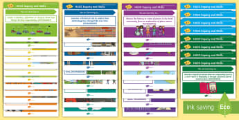 Year 2 Australian HASS Inquiry Skills Content Descriptor Statements Display Pack - geography, posters, i can, success, criteria, objectives