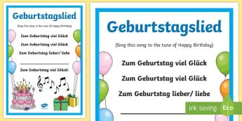 Birthday Song Lyrics German - Birthday Song, birthday, German