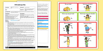 Simon Says Game EYFS Adult Input Plan and Resource Pack - simon says