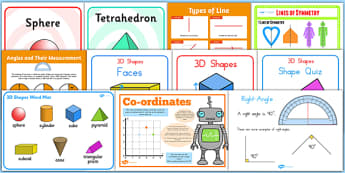 Properties of Shape Display Pack LKS2 - shapes. Maths, displays