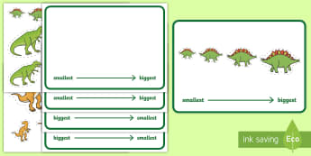 Workstation Pack: Dinosaur Size Ordering Activity Pack -  - TEACCH activities, size sorting, maths, p scale maths, workstation