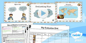 PlanIt - D&T KS1 - Dips and Dippers Lesson 1: Evaluating Dips Lesson Pack