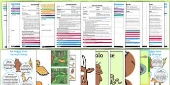 Adult Input Planning and Resource Pack to Support Teaching on The Gruffalo - story, plan