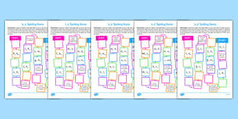 Split Digraph Spelling Board Games Resource Pack, silent e