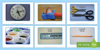 School Objects Photo Pack English/Polish - School Objects Photo Pack - school objects, photo pack, photo, pack, ojects,EAL,Polish-translation