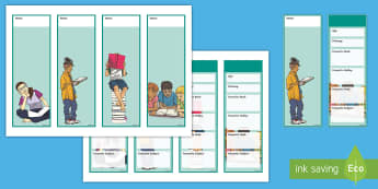 All About Me Bookmarks - CfE Back to School, new class, new school year, transition, settling in, getting to know you, first