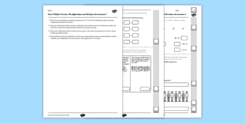Year 2 Maths Number Multiplication and Division Assessment 1 Assessment Test - australian maths, maths assessment, assessment, measuring, measurement, measure