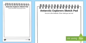 Antarctic Explorers Sketch Pad Activity - Antarctic Explorers Sketch Pad Activity - Arctic, winter, explorer, South Pole, colouring, fine moto