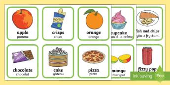 Cartes à trier : Les aliments sains et les aliments malsains - La santé - Santé, health, aliments, food, nourriture, boisson, sain, malsain, malbouffe, régime, alimentation
