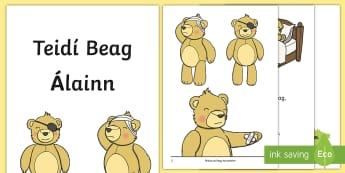 Teidí Beag Álainn Activity Booklet Gaeilge - Irish, Gaeilge, bréagáin, toys, teddy, teidi,Irish