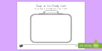 Design an Eco-Friendly Lunch Activity - tidy kiwi, New Zealand, rubbish, recycling, Years 1-6, lunch, eco friendly