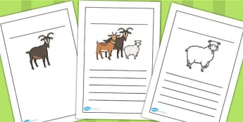 The Three Billy Goats Gruff Writing Frames - writing, frames
