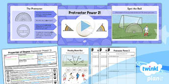 PlanIt Y5 Properties of Shapes Lesson Pack Draw and Measure Angles (2) - Properties of Shapes, angles, acute, obtuse, reflex, measure angles, draw angles, degrees, protractor, angle measurer