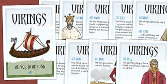 Viking Timeline Posters - history, ks2 history, display, vikings