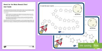 Reach for the Moon Behaviour Chart Parent and Carer Information Sheet - routine, organisation, help, advice, support, behaviour, reward