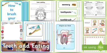 KS1 World Oral Health Day Resource Pack - oral health, teeth, mouth, brushing teeth, toothbrush, dental, dental hygiene