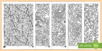 Patrymau William Morris Taflenni Lliwio - Welsh-Welsh - William Morris, patrwm, patrymau, dylunio, fictoraidd, Cymraeg, Iaith, pynciau, artist,CA2, artist,W - William Morris, patrwm, patrymau, dylunio, fictoraidd, Cymraeg, Iaith, pynciau, artist,CA2,