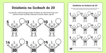 Karta Działania na liczbach do 20
