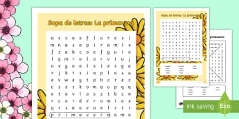 Spring Vocabulary Word Search Spanish - Spring, KS2, Spanish, MFL,word search