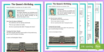 KS1 The Queen's Birthday Differentiated Fact File - KS1 The Queen's Birthday (21st April 2017), KS1 The Queen's Birthday (21st April 2017), Year 1, Ye